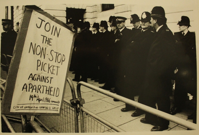 Non-Stop Picket of South Africa House, London, 1986 (Source: City of London Anti-Apartheid Group)